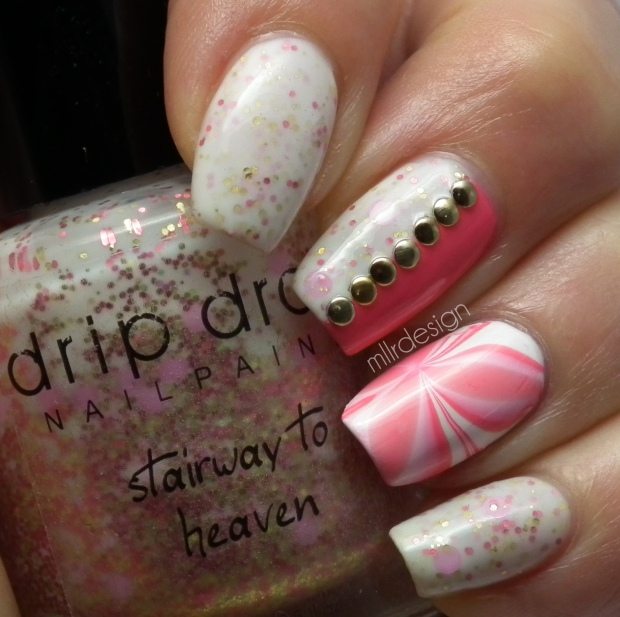Drip Drop Nail Paint 'Stairway to heaven' & 'Pink'