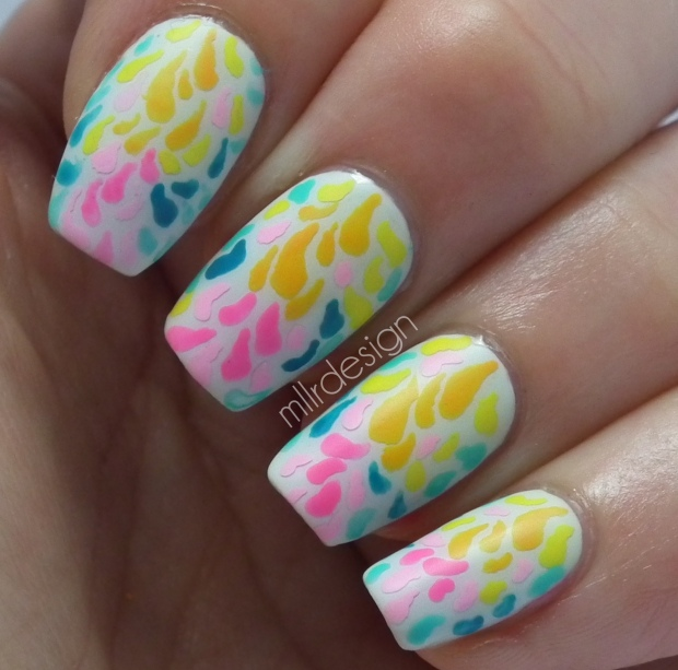 Abstract drops on nails