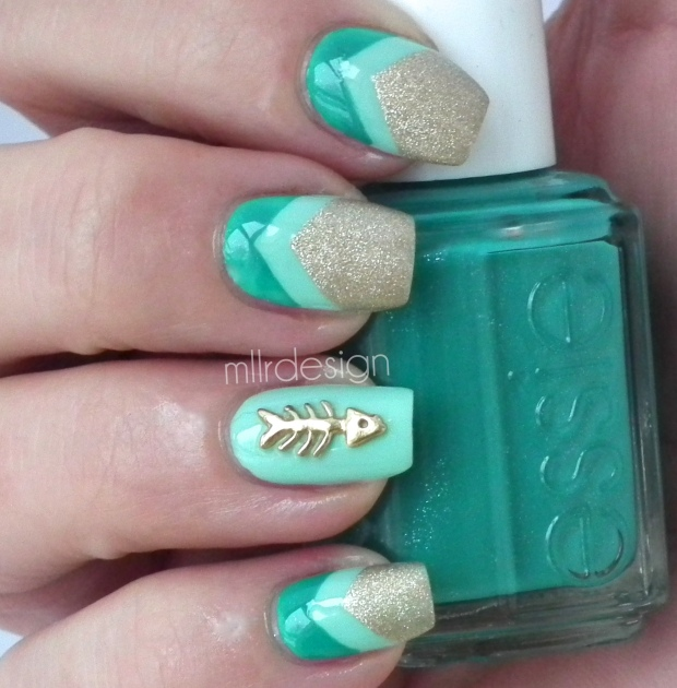 Chevron with nail charm