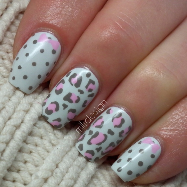 Dotticure with cheetah print