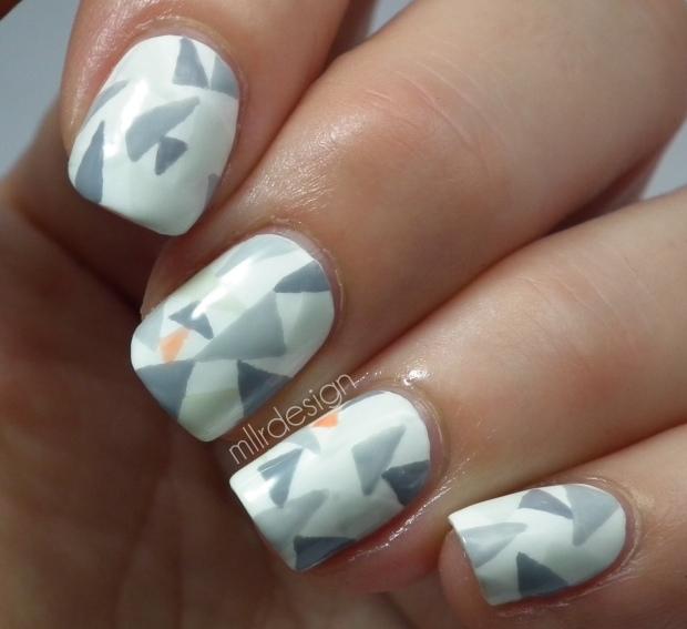 Tangram nails