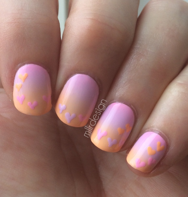 Gradient with hearts