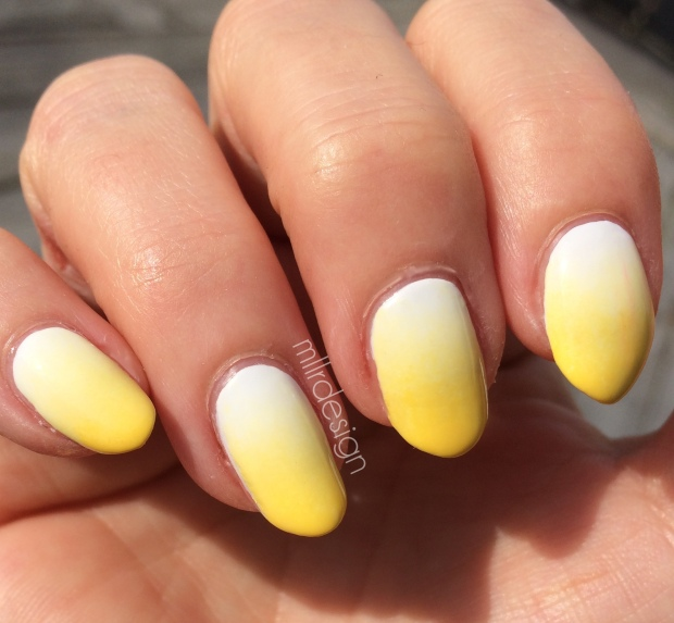 Yellow white gradient