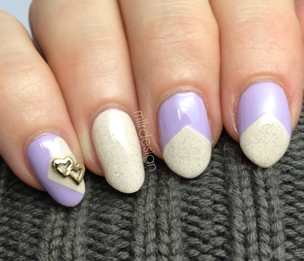 lavender and nude chevron