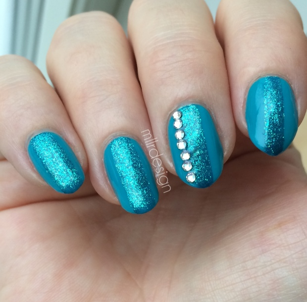 teal with Swarovski