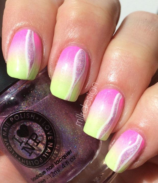 Neon gradient with holo detail