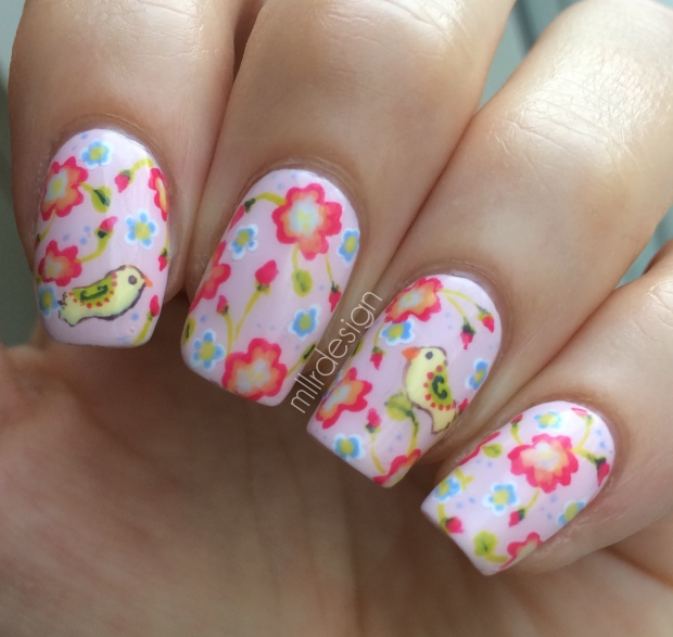 Florals on Essie romper room