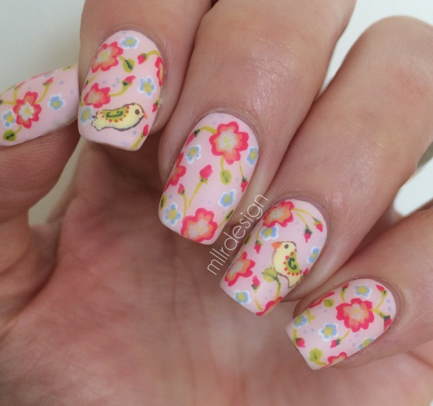 Florals with matte top coat