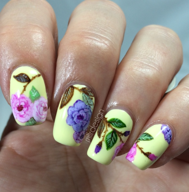 Florals on yellow base