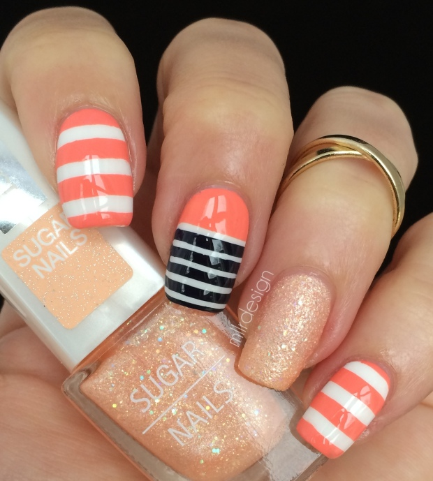 Peachy stripes