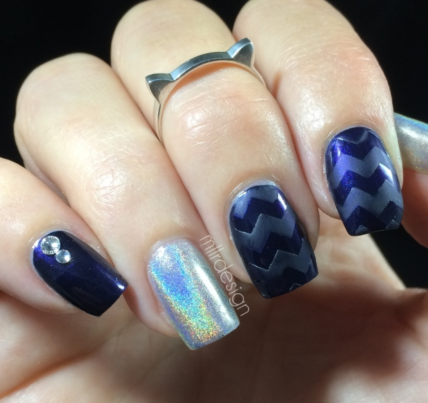 Navy chevron with ultra holo