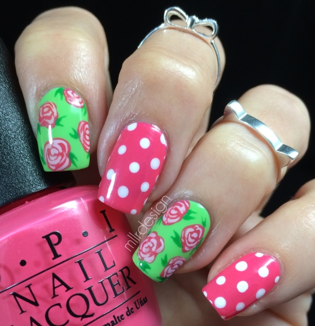 Vintage roses and polka dots