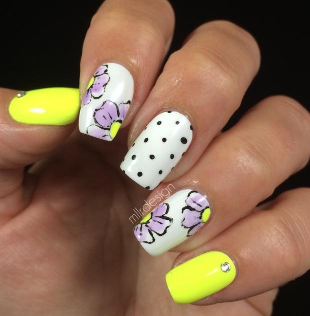 Neon flower dotticure