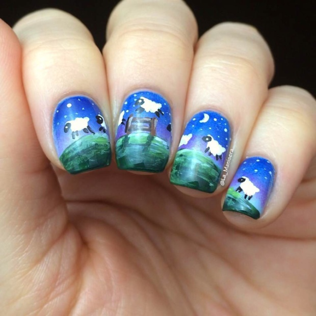 Steph's insomnia/counting sheep nails