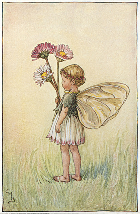 Daisy Fairy by Cicely Mary Barker, pic from http://www.flowerfairiesprints.com