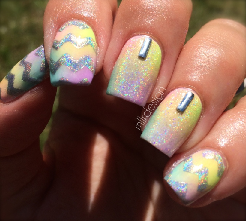 Sparkly holo pastel gradient