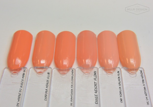 OPI I'm Getting a Tan-gerine dupes & comparisons